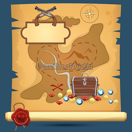 old quest adventure pirate treasure paper