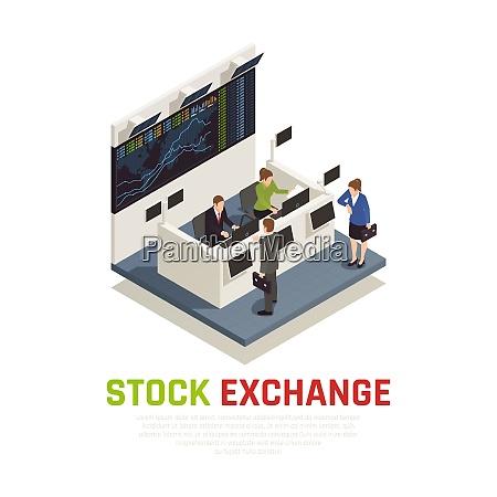 stock exchange office reception desk service