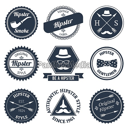hipster smoke original authentic style labels