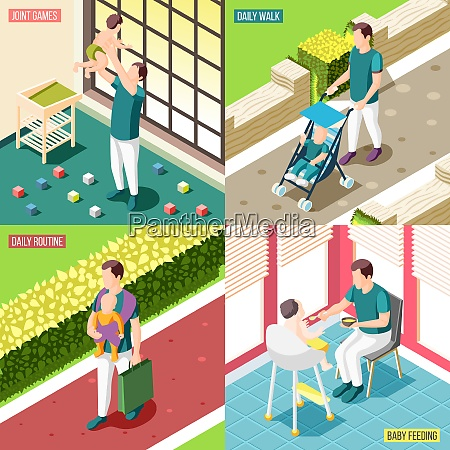 fathers on maternity leave 2x2 design