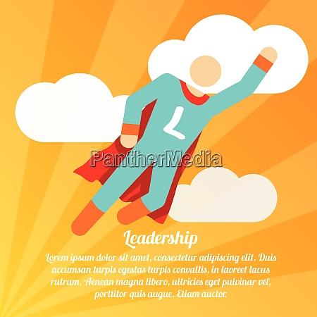 leadership poster with superman superhero business