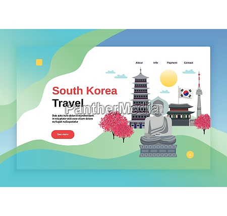 south korea tourism concept banner website