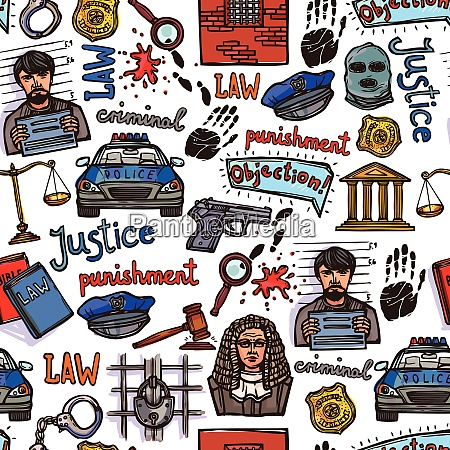 law justice police and legislation icon