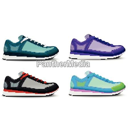 colorful trendy sport training running tennis