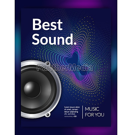 realistic audio equipment sound for music
