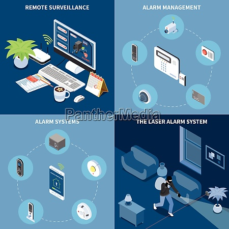 home security 2x2 design concept set