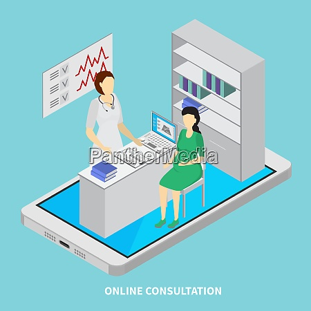 mobile medicine concept with online consultation