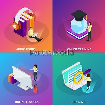 online learning 2x2 design concept set