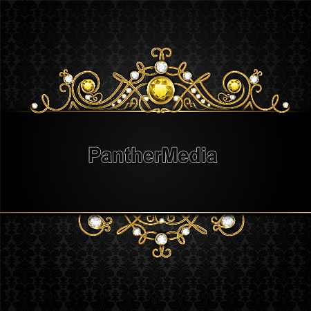 jewellery black background with unique classic