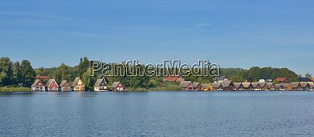 village of mirow at lake