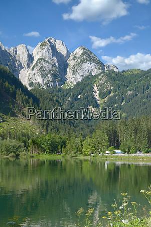 lake gosaubsee in gosautal valley salzkammergut