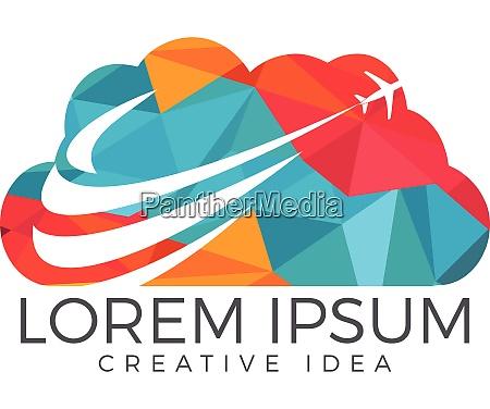 creative cloud travel logo design