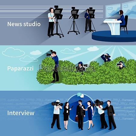 photographer and videographer horizontal banners set