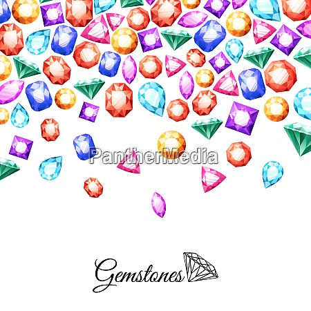 colorful sparkling gemstones background with luxury