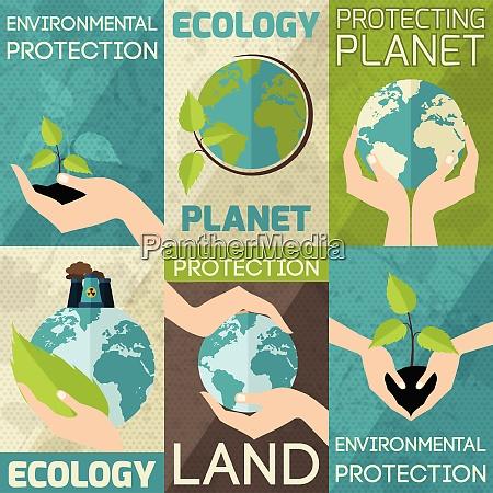 hand hold plants and globe environmental