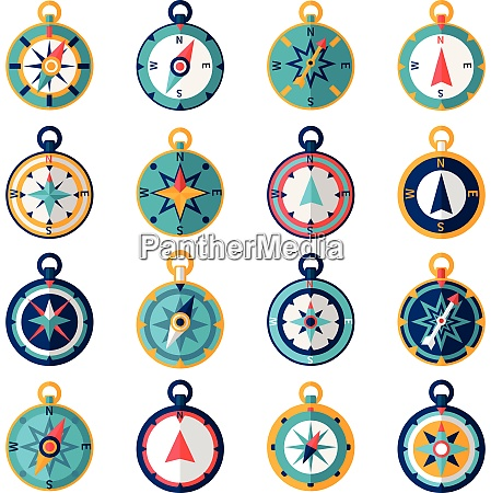 navigational compass sailing orientation instrument icon