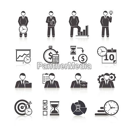 time management businessman day activity planning