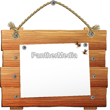 village style wooden sign with blank