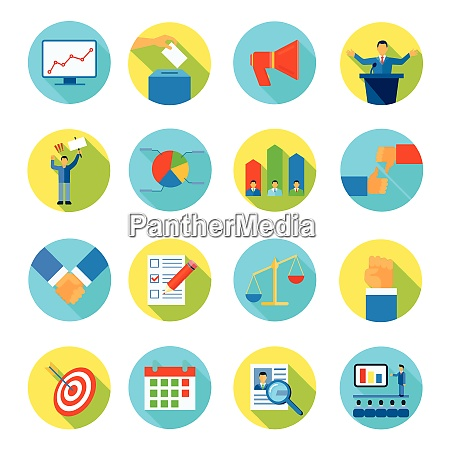 rounded isolated abstract icon flat set