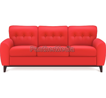 red leather luxury sofa for modern