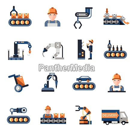 production line industrial factory manufacturing process