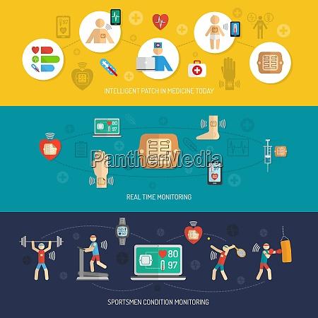 intelligent wearable smart electronic patch horizontal