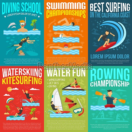 water sport poster collection for rowing
