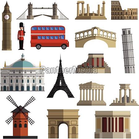 world travel historical landmarks sightseeing bus