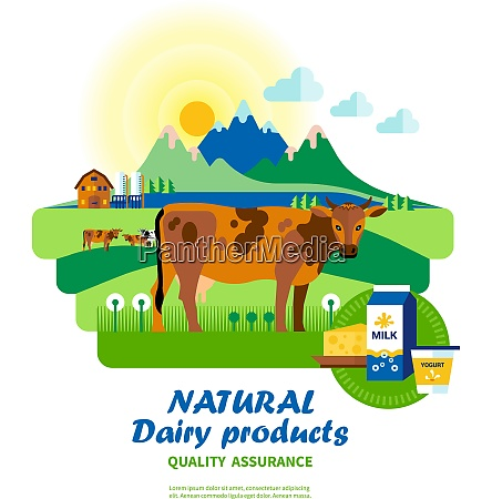 natural dairy products quality assurance with