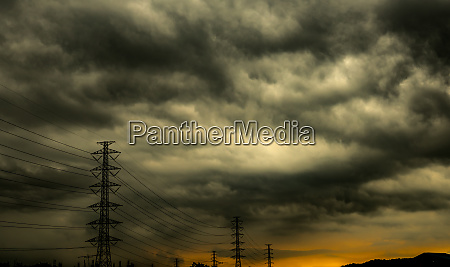 dramatic dark sky and clouds and
