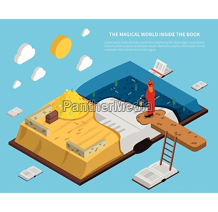 magical world inside book isometry with