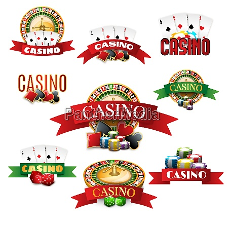 casino with cards roulette chips and