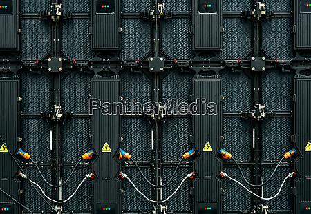 backside of big led screen monitor