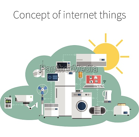internet things concept flat icon in