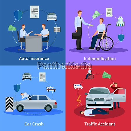 auto insurance concept with car crash