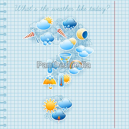 college squared notebook page day weather