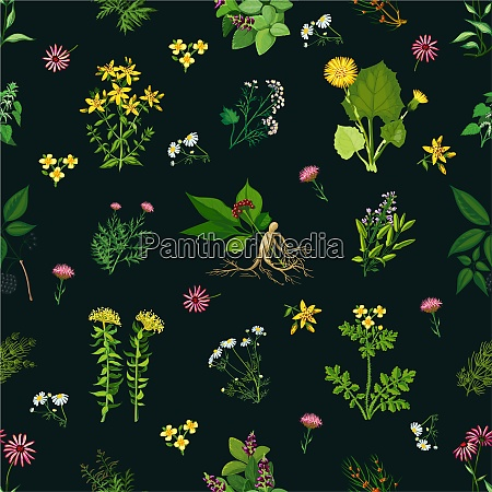 seamless color pattern with dark background