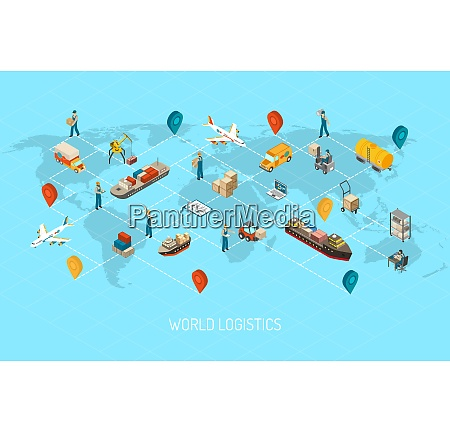 international logistic company worldwide operations with