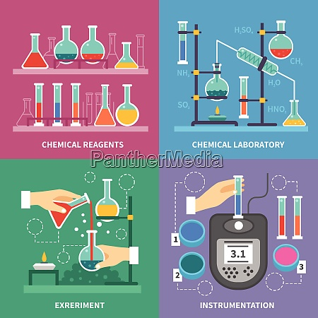 chemical laboratory concept with instrumentation glassware