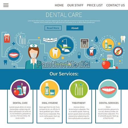 dental care page dental care design