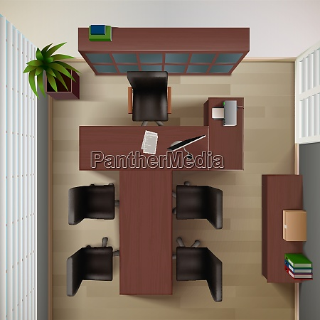 office interior background office vector illustration
