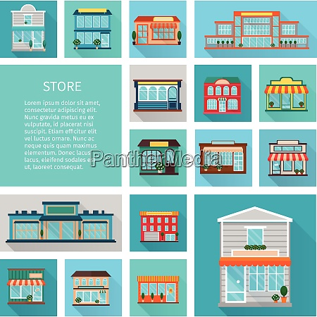 shopping in stores buildings with