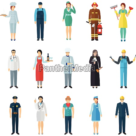 profession and job avatar with standing