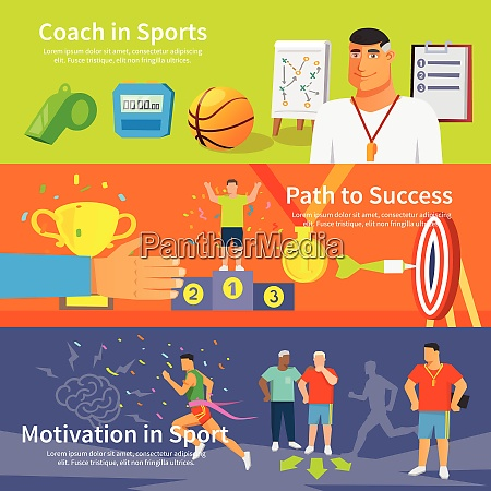 coaching horizontal banner set with coaching
