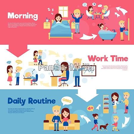 scenes of people in daily life
