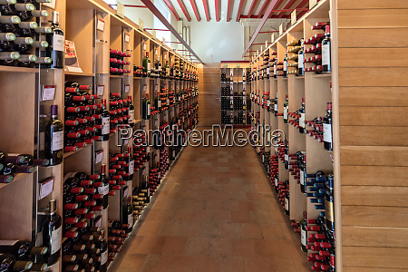 interior of a wine shop in