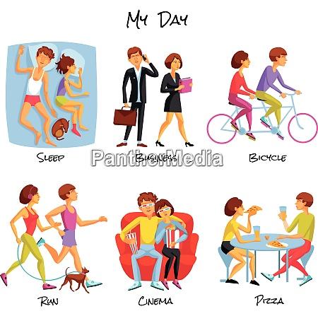 lifestyle icons set lifestyle vector illustration