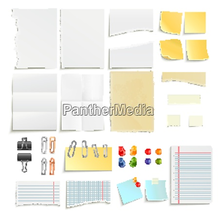 clips pins and various note paper