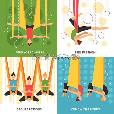 aero yoga design concept four square