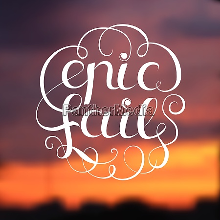 epic fail design with title on